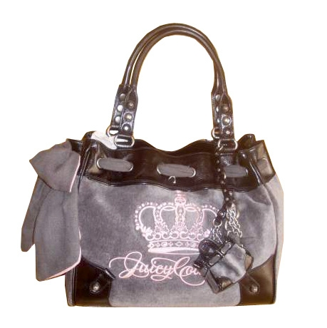 Sac main en tissu juicy couture gris 415404 for Couture a 4 mains