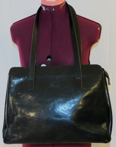 Leather Handbag FRANCINEL Black