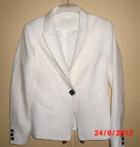 blazer veste tailleur zara 40 l t3 blanc 1284098. Black Bedroom Furniture Sets. Home Design Ideas