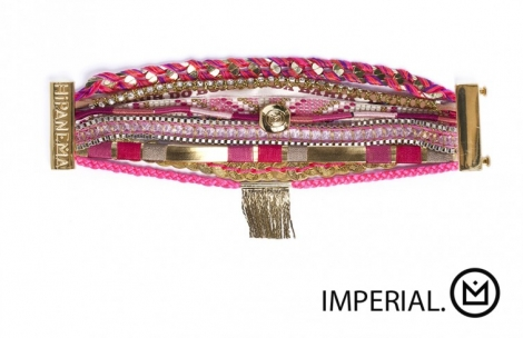 Bracelet HIPANEMA Rose, fuschia, vieux rose