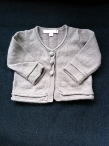 Strickjacke, Cardigan REPETTO Maulwurfsgrau