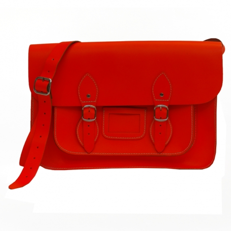 Schultertasche Leder CAMBRIDGE SATCHEL CO. Orange