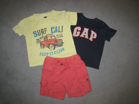 Shorts BABY GAP Rot, bordeauxrot