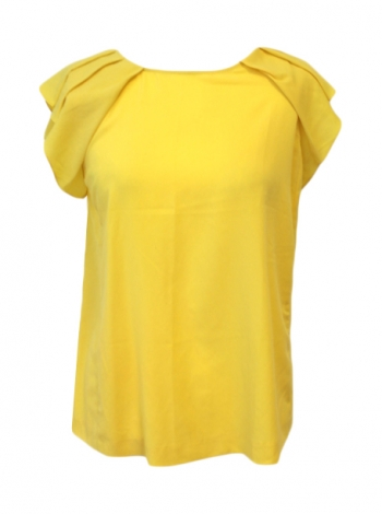 Tops, T-Shirt ZARA Gelb