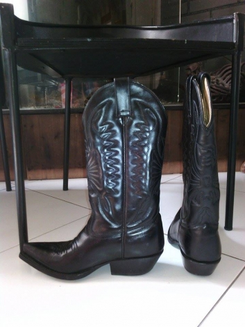 santiags bottes cowboy mexicana 35 noir 2825577. Black Bedroom Furniture Sets. Home Design Ideas