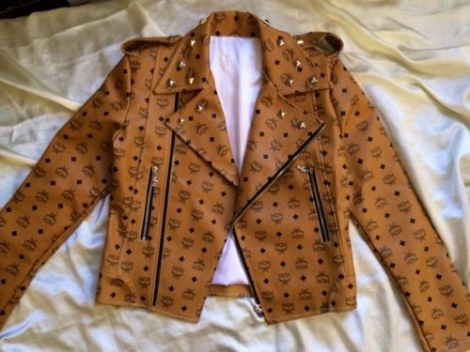 Mcm leather jacket sale