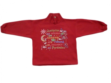 Sweat-Kleidung MARQUE INCONNUE Rot, bordeauxrot