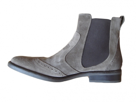 Stiefeletten, Ankle Boots UPLA Maulwurfsgrau