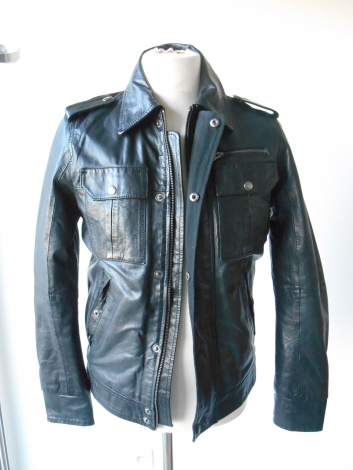 Lederblouson JACK & JONES Schwarz