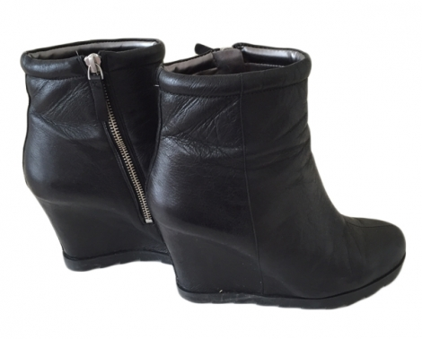 wedge ankle boots nine west 37 black 4019276