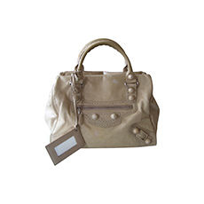 Leather Handbag BALENCIAGA Beige, camel
