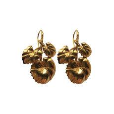 Earrings AURELIE BIDERMANN Golden, bronze, copper