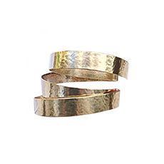 Bracelet HERVÉ VAN DER STRAETEN Doré, bronze, cuivre