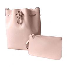 Leather Shoulder Bag MANSUR GAVRIEL Pink, fuchsia, light pink