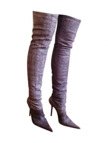 thigh high boots gianmarco lorenzi 38 animal prints 3231489