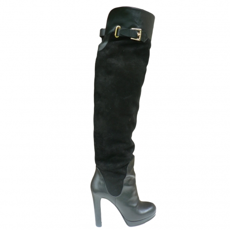 thigh high boots gianmarco lorenzi 38 black vendu par