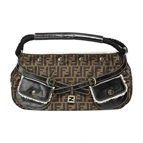 Non-Leather Handbag FENDI Brown