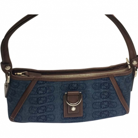 Non-Leather Clutch GUCCI Blue, navy, turquoise