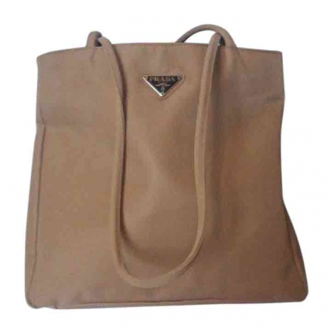 Non-Leather Handbag PRADA Beige, camel