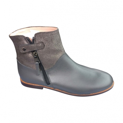 Ankle Boots JACADI Gray, charcoal