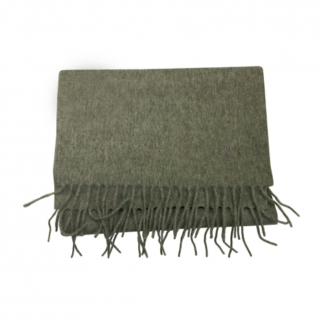 Scarf YVES SAINT LAURENT Gray, charcoal