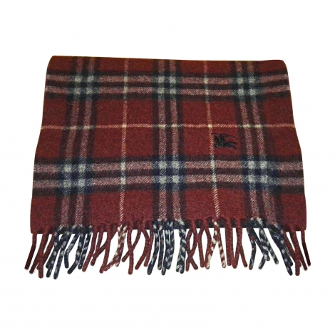 Scarf BURBERRY Red, burgundy