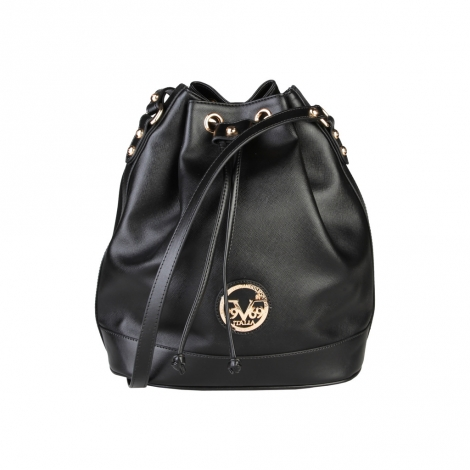 Leather Shoulder Bag VERSACE 19.69 Black