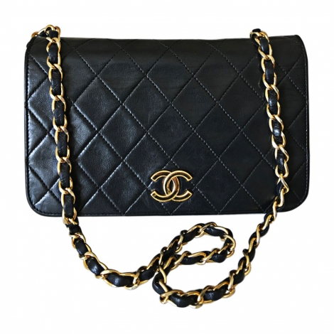 Leather Handbag CHANEL Wallet-On-Chain Black