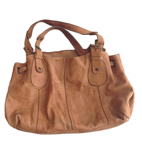 Leather Handbag GERARD DAREL Beige, camel